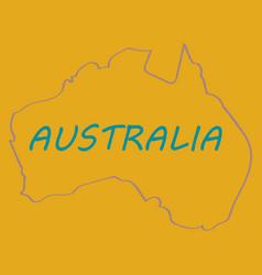 Map of australia vector