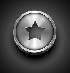 Metallic star icon vector