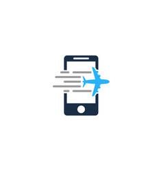 mobile travel logo icon design vector image