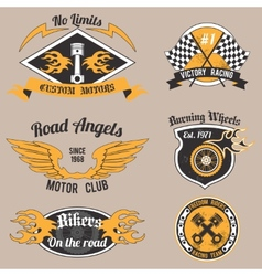 Motorcycle design badges vector image