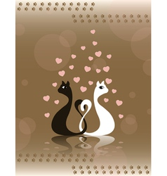 pair loving cats vector image