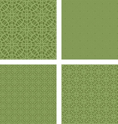 Pastel green seamless pattern background set vector