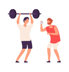personal training fitness male coach vector image