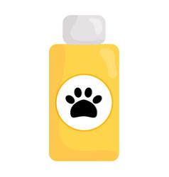 Pet shampoo bottle icon vector