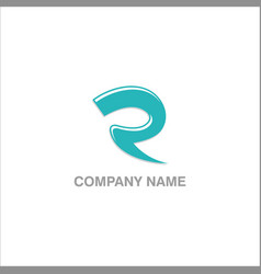 r initial company design logo vector image