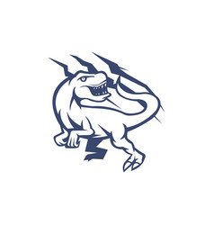 Raptor mascot logo outline version raptors logo vector