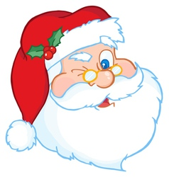 Santa Winking vector