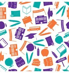 School icon color pattern eps10 vector