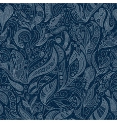 SEAMLESS DENIM FLORAL PATTERN vector