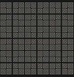 seamless pattern with lines squares stripes vector image