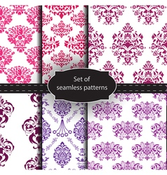 Set of seamless luxury patterns vector image