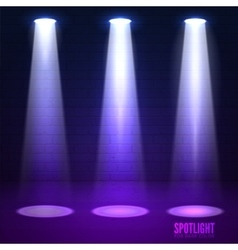Shine effects on a dark grunge wall background vector image