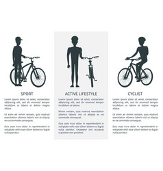 sport active lifestyle cycling vector image