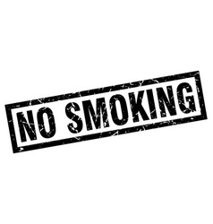 Square grunge black no smoking stamp vector