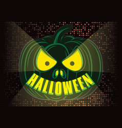 stylish color party poster for halloween vector image