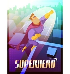 Superhero Poster vector