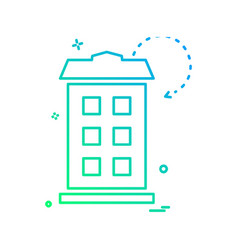 tower icon design vector image