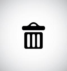 trash bin icon vector image