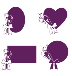 Tulip frames vector image
