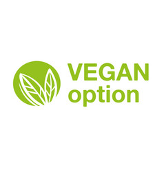 Vegan option logo vector
