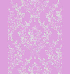 vintage baroque background floral ornament vector image