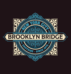 Vintage new york brooklyn t-shirt vector