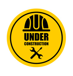 warning sign under construction vector image