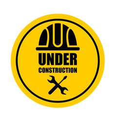 warning sign under construction vector image