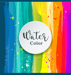 watercolor abstract background design vector image