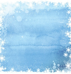 watercolor christmas snowflake background 0211 vector image