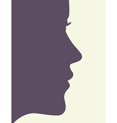 Woman profile vector image