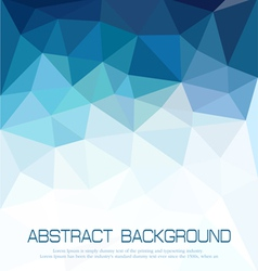 abstract blue background with mosaic for business vector image vector image