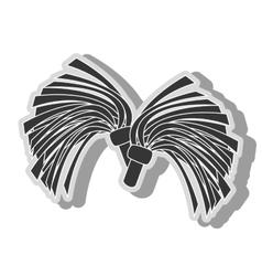 cheerlader pom symbol icon vector image vector image