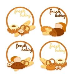 Fresh baking price badges vector