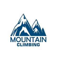 mountain climbing adventure badge for sport design vector image vector image