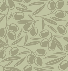 Seamless background with olives vector