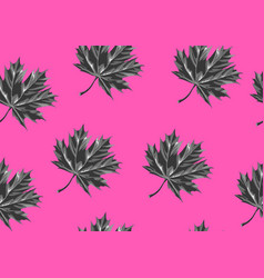 Seamless pattern with maple leaves decorative vector