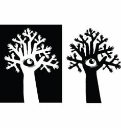 tree and eye vector image
