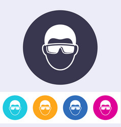 abstract eye protection sign icon vector image