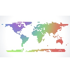 Abstract world map from dots vector image