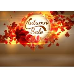 Autumn Sale background with copyspace plus EPS10 vector image