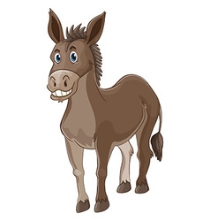 Donkey with happy face vector image vector image