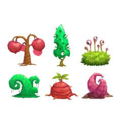 fantasy tree set vector image