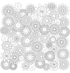 Flowers background catcher for coloring book vector image vector image