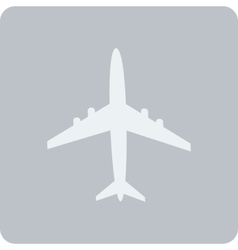 Icon of aircraft vector image