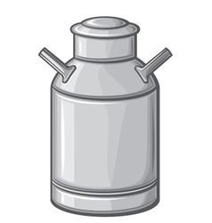 milk can vector image vector image