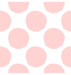 pink dots seamless pattern vector image vector image