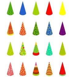 set happy birthday cap vector image vector image