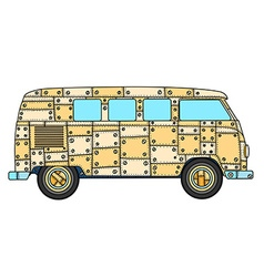 van in Tangle Patterns style vector image