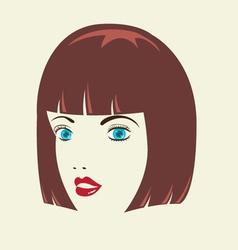 Bob Woman HairStyle vector image